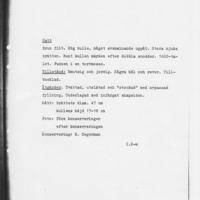 Konservering av filthatt, Pnr 4925, 1968 001.tiff